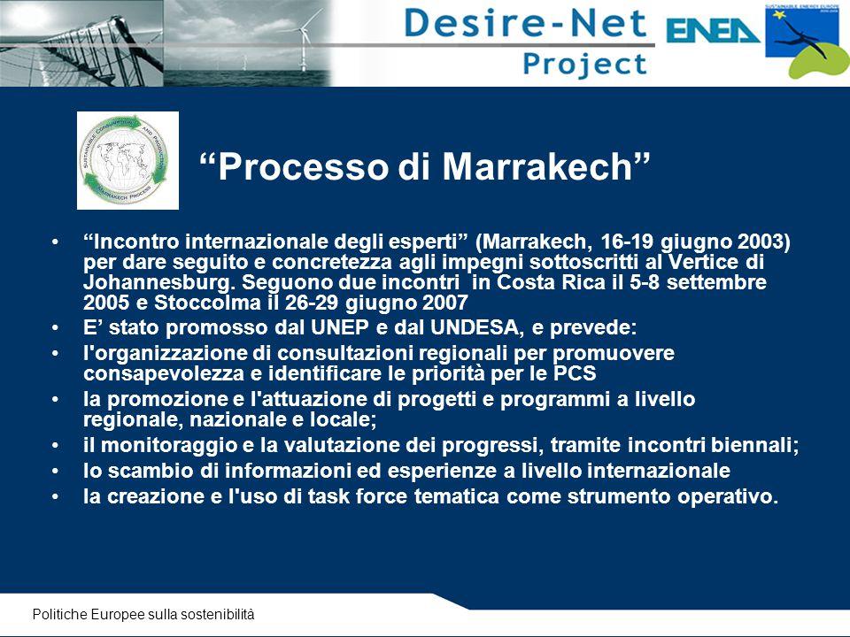 """""""Processo di Marrakech"""" """"Incontro internazionale degli esperti"""" (Marrakech, 16-19 giugno 2003) per dare seguito e concretezza agli impegni sottoscritt"""