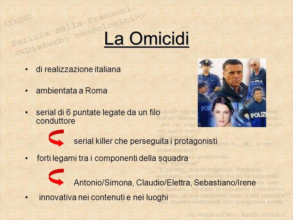 La Omicidi di realizzazione italiana ambientata a Roma serial di 6 puntate legate da un filo conduttore serial killer che perseguita i protagonisti fo