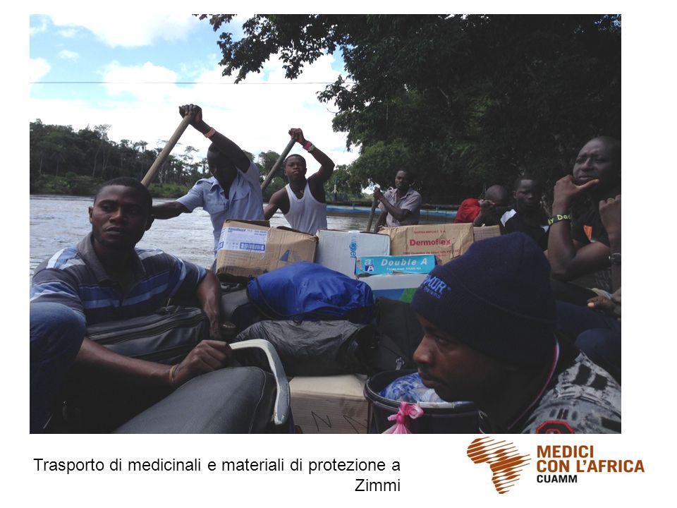 Trasporto di medicinali e materiali di protezione a Zimmi