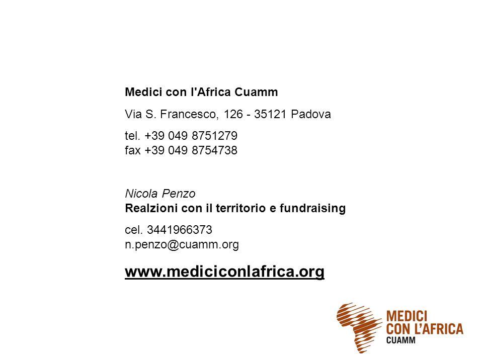 Medici con l Africa Cuamm Via S. Francesco, 126 - 35121 Padova tel.
