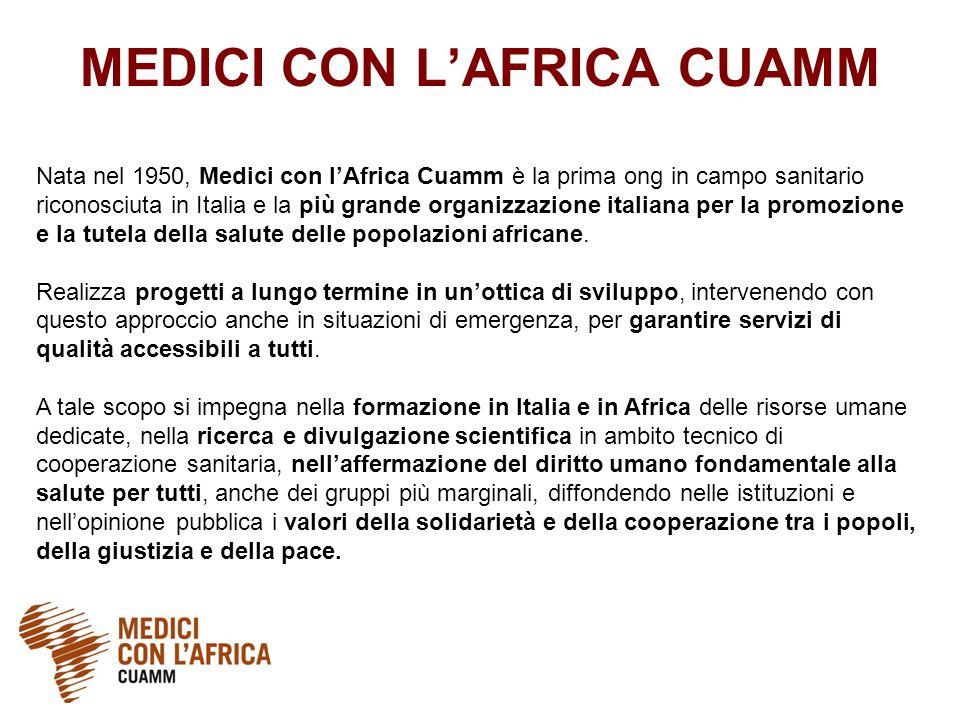 Nata nel 1950, Medici con l'Africa Cuamm è la prima ong in campo sanitario riconosciuta in Italia e la più grande organizzazione italiana per la promozione e la tutela della salute delle popolazioni africane.