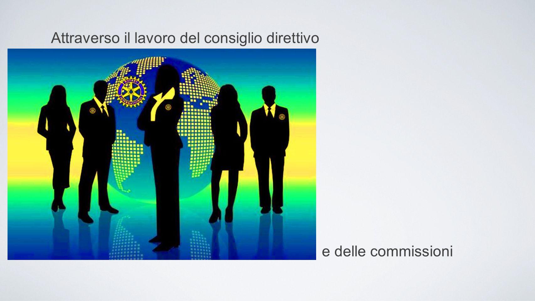 attraverso il lavoro del consiglio direttivo Attraverso il lavoro del consiglio direttivo e delle commissioni attraverso il lavoro del consiglio diret