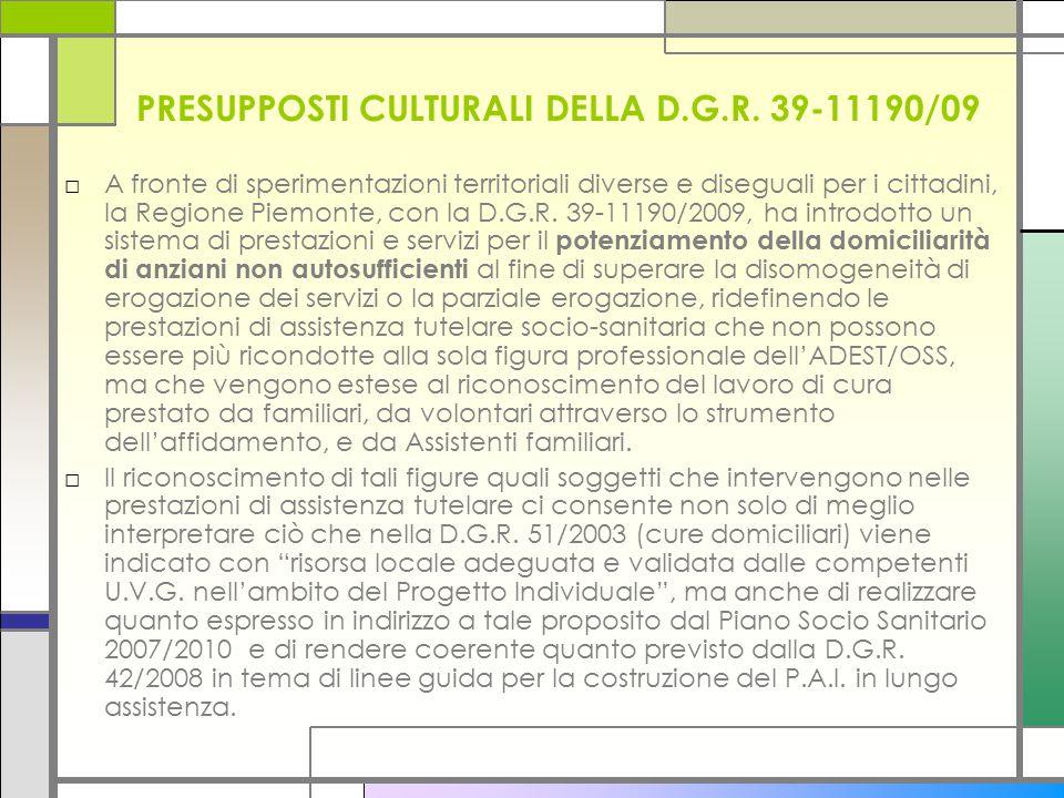 PRESUPPOSTI CULTURALI DELLA D.G.R.