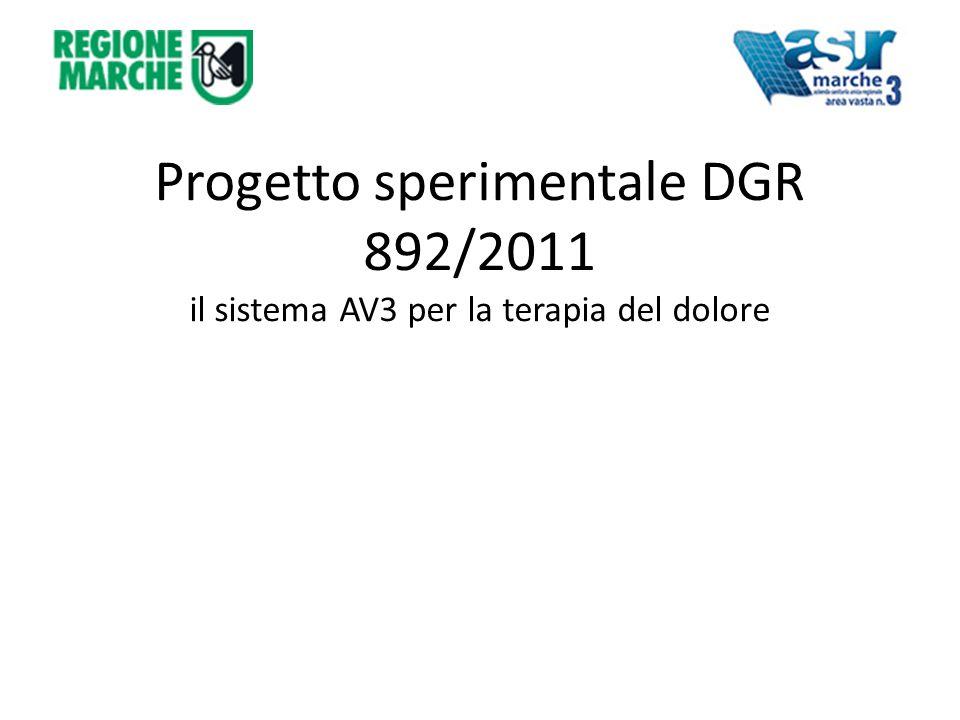 Progetto sperimentale DGR 892/2011 il sistema AV3 per la terapia del dolore