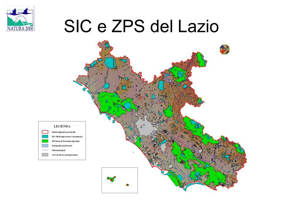 SIC e ZPS del Lazio