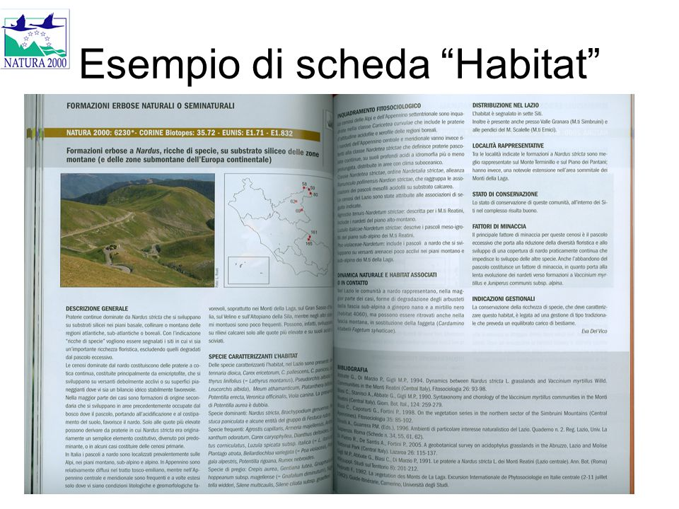 """Esempio di scheda """"Habitat"""""""