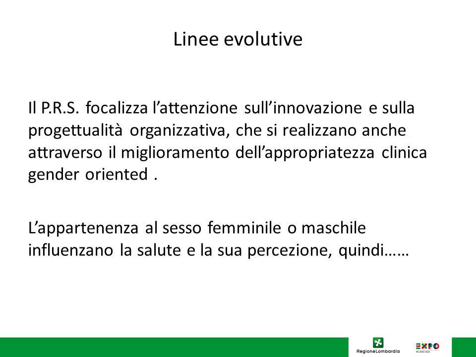 Linee evolutive Il P.R.S.
