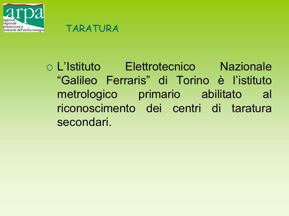 """TARATURA  L'Istituto Elettrotecnico Nazionale """"Galileo Ferraris"""" di Torino è l'istituto metrologico primario abilitato al riconoscimento dei centri d"""
