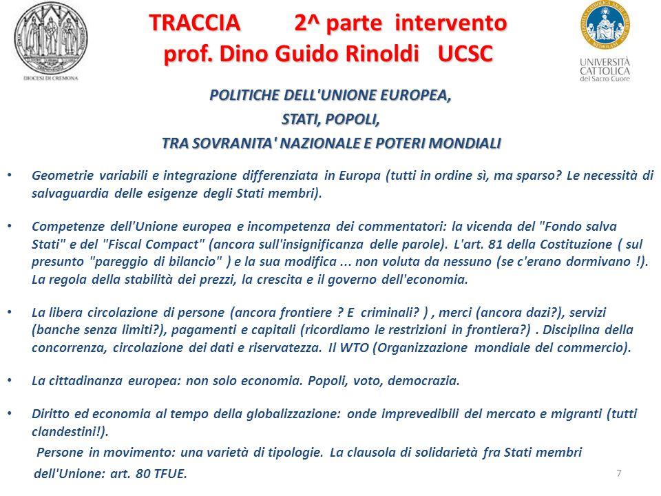 7 TRACCIA 2^ parte intervento prof.