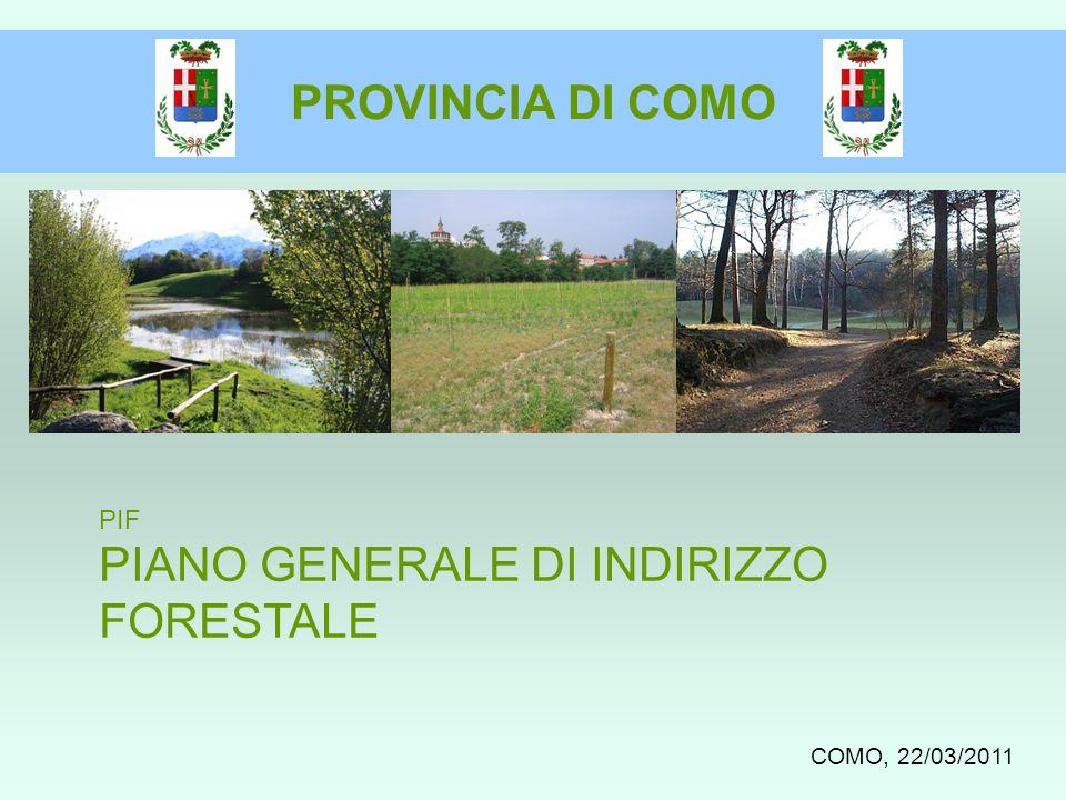 COMO, 22/03/2011 PIF PIANO GENERALE DI INDIRIZZO FORESTALE PROVINCIA DI COMO