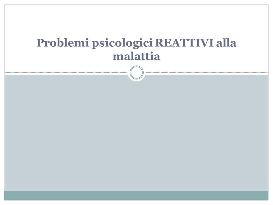 Counseling Psicologico Per il PAZIENTE: 1.