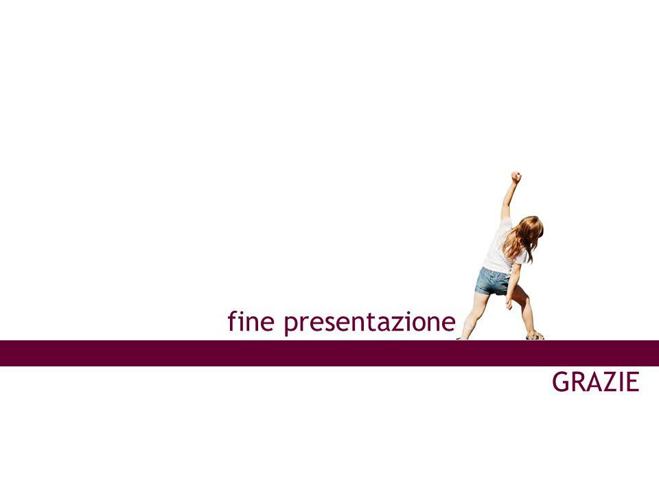 GRAZIE fine presentazione