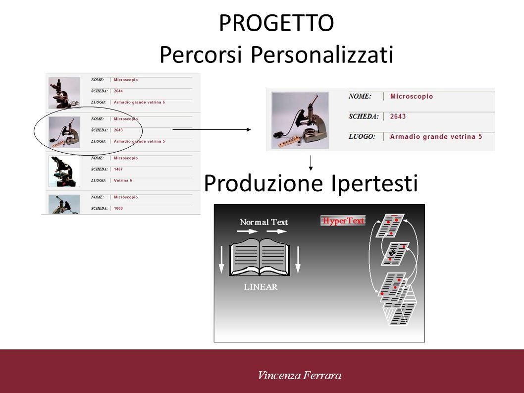 5 novembre 2010 Vincenza Ferrara Il Progetto Percorso personalizzato