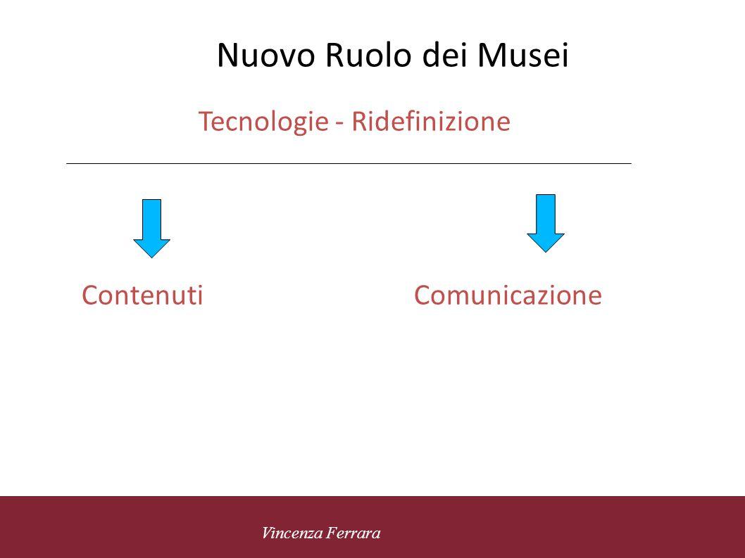 5 novembre 2010 Vincenza Ferrara Musei Universitari - Formazione Nuovi Contenuti Nuovi percorsi e laboratori Uso delle tecnologie Itinerari virtuali Accesso facilitato ai contenuti