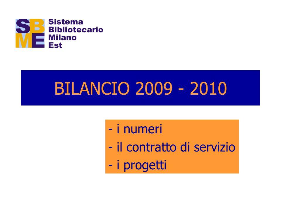 BILANCIO 2009 - 2010 - i numeri - il contratto di servizio - i progetti