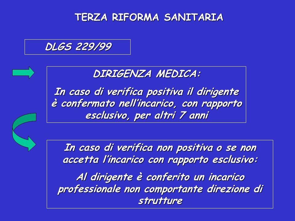 TERZA RIFORMA SANITARIA DLGS 229/99 LINEE GUIDA PER LA DETERMINAZIONE DEI PARAMETRI PER INDIVIDUARE LE STRUTTURE PER LA FORMAZIONE SPECIALISTICA E PER