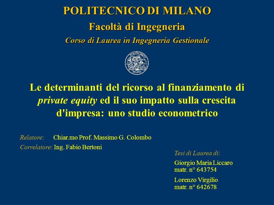 Liccaro G.M., Virgilio L.12 L'accesso al private equity: la specifica del C.R.