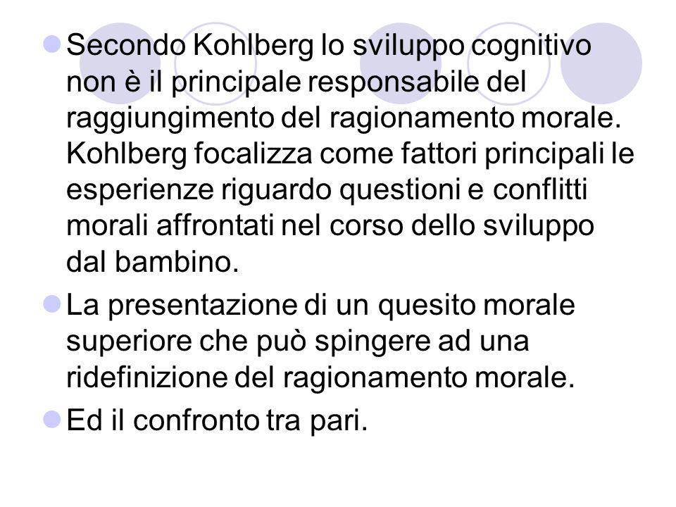 Nello sviluppo morale intervengono svariate modalità: Ragionamento socioconvenzionale L'autocontrollo Comportamenti prosociali: altruismo, reciprocità, condivisione, imparzialità.