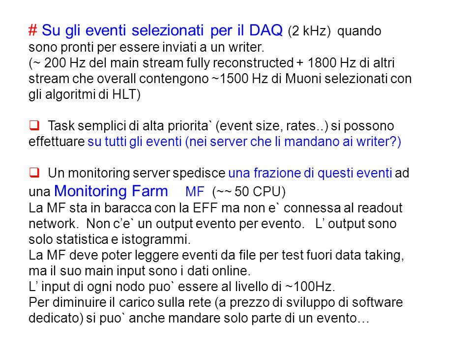 # Su gli eventi selezionati per il DAQ (2 kHz) quando sono pronti per essere inviati a un writer.