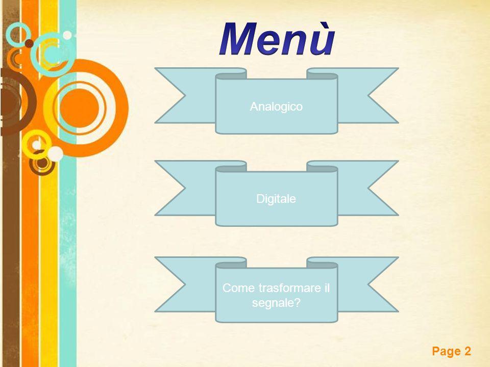 Free Powerpoint Templates Page 2 Analogico Come trasformare il segnale Digitale