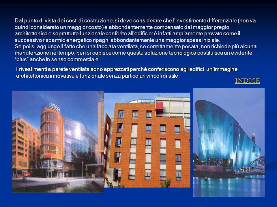 Dal punto di vista dei costi di costruzione, si deve considerare che l'investimento differenziale (non va quindi considerato un maggior costo) è abbon