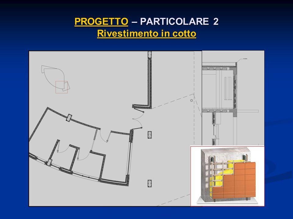 PROGETTOPROGETTO – PARTICOLARE 2 Rivestimento in cotto Rivestimento in cotto PROGETTO Rivestimento in cotto
