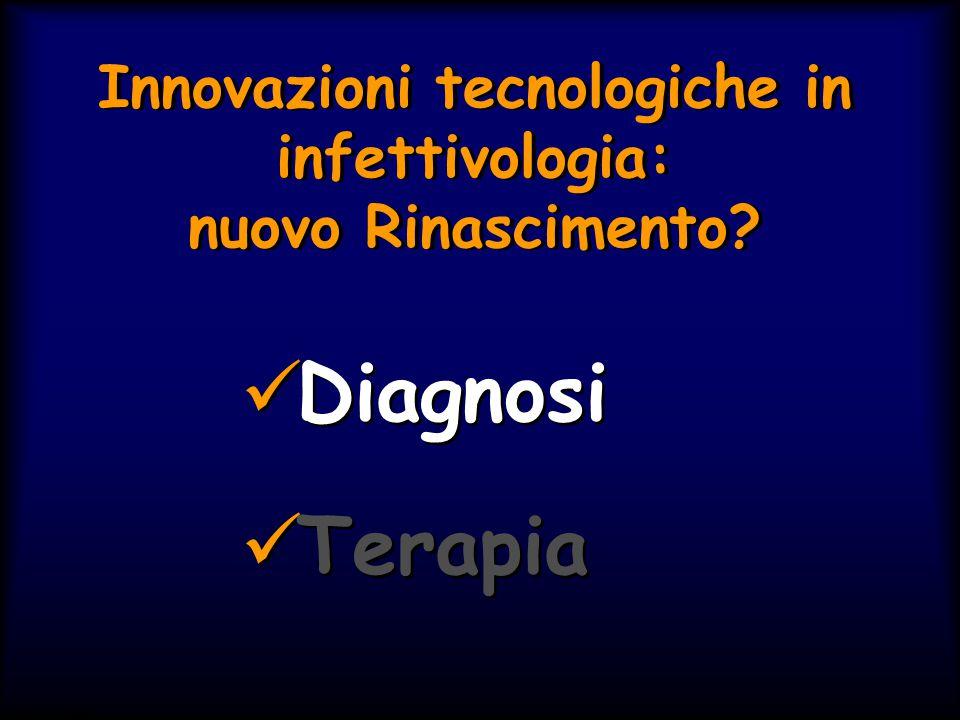 Simit 11/2008 Innovazioni tecnologiche in infettivologia: nuovo Rinascimento? Diagnosi Terapia Diagnosi Terapia