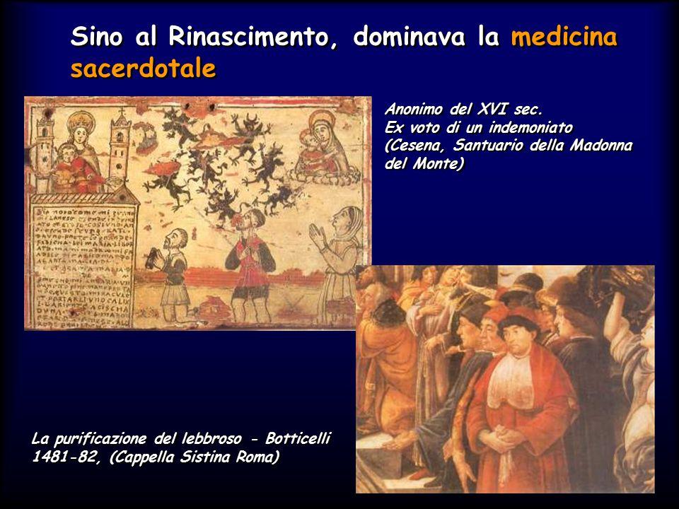 Simit 11/2008 Sino al Rinascimento, dominava la medicina sacerdotale Anonimo del XVI sec.