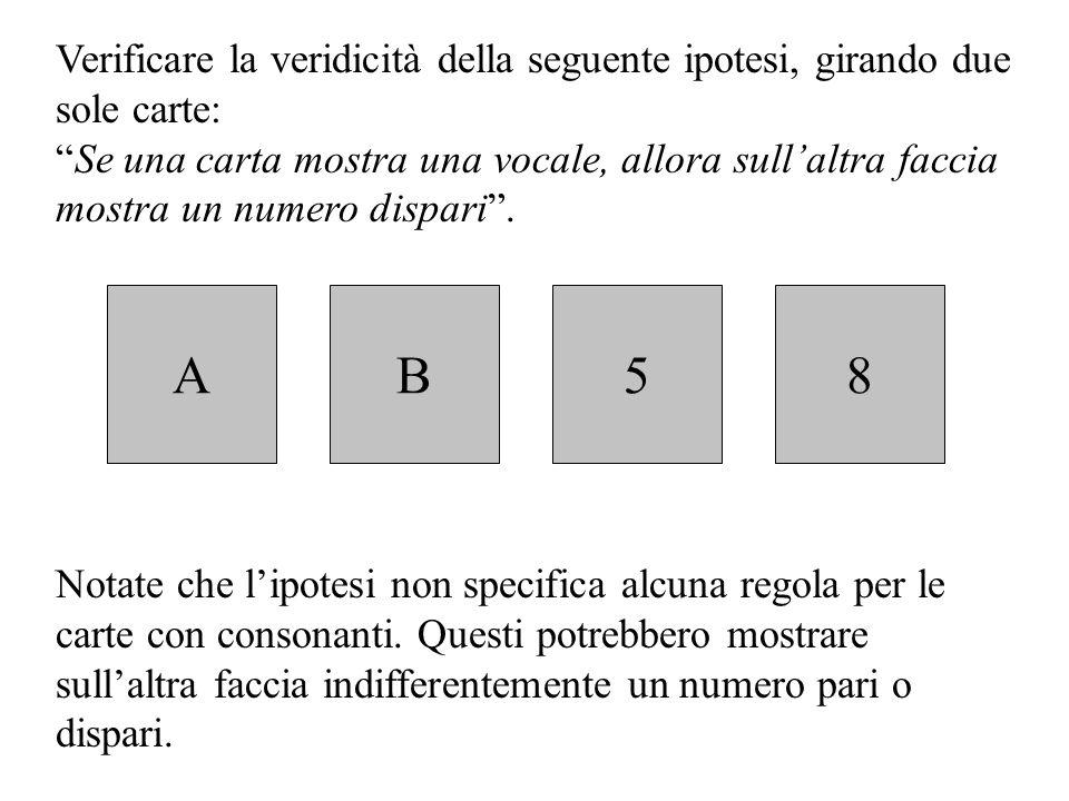 La verifica delle ipotesi Verificare un'ipotesi significa controllare la validità di una condusione. È possibile verificare se un'ipotesi è vera in di