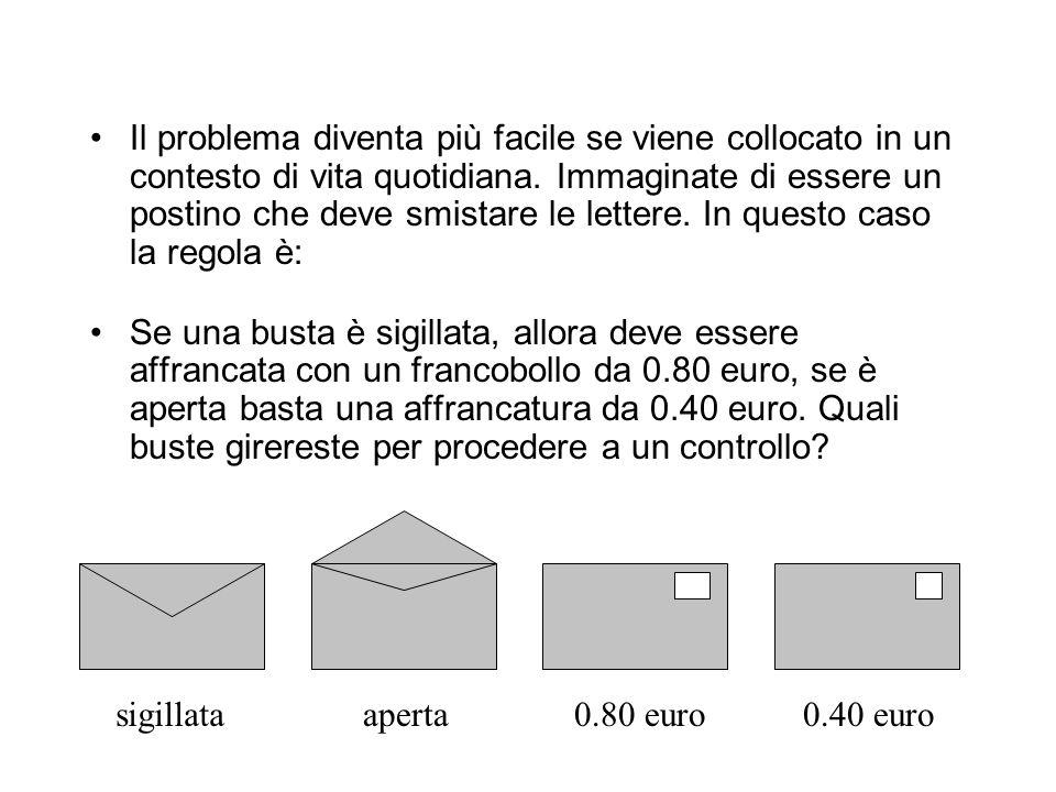 """AB58 Verificare la veridicità della seguente ipotesi, girando due sole carte: """"Se una carta mostra una vocale, allora sull'altra faccia mostra un nume"""