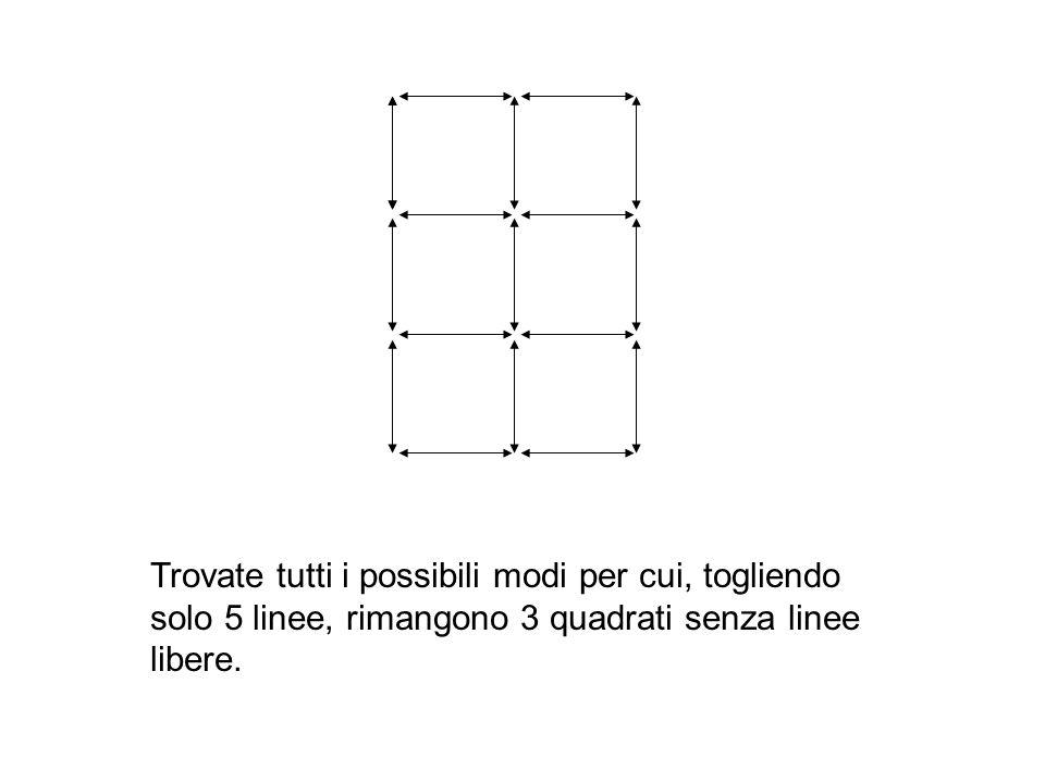 Disegnare 4 linee che passano per tutti i punti senza mai staccare la penna dal foglio o ripassare sopra la stessa linea una seconda volta.