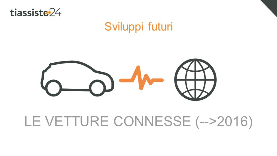 Sviluppi futuri LE VETTURE CONNESSE (-->2016)