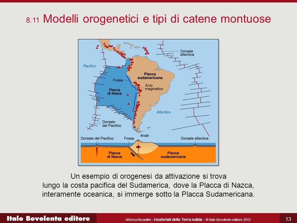 Alfonso Bosellini – I materiali della Terra solida - © Italo Bovolenta editore 2012 13 8.11 Modelli orogenetici e tipi di catene montuose Un esempio d