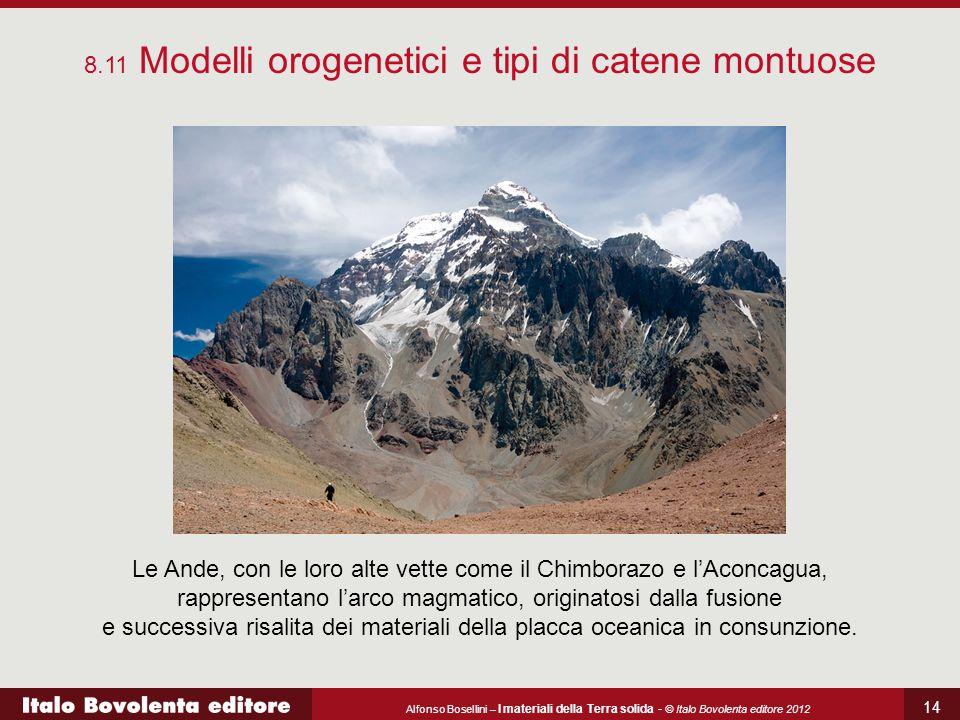 Alfonso Bosellini – I materiali della Terra solida - © Italo Bovolenta editore 2012 14 8.11 Modelli orogenetici e tipi di catene montuose Le Ande, con