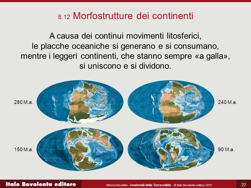 Alfonso Bosellini – I materiali della Terra solida - © Italo Bovolenta editore 2012 22 A causa dei continui movimenti litosferici, le placche oceanich