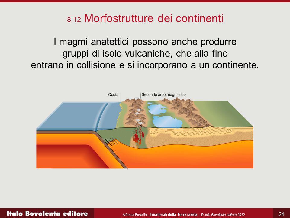 Alfonso Bosellini – I materiali della Terra solida - © Italo Bovolenta editore 2012 24 I magmi anatettici possono anche produrre gruppi di isole vulca