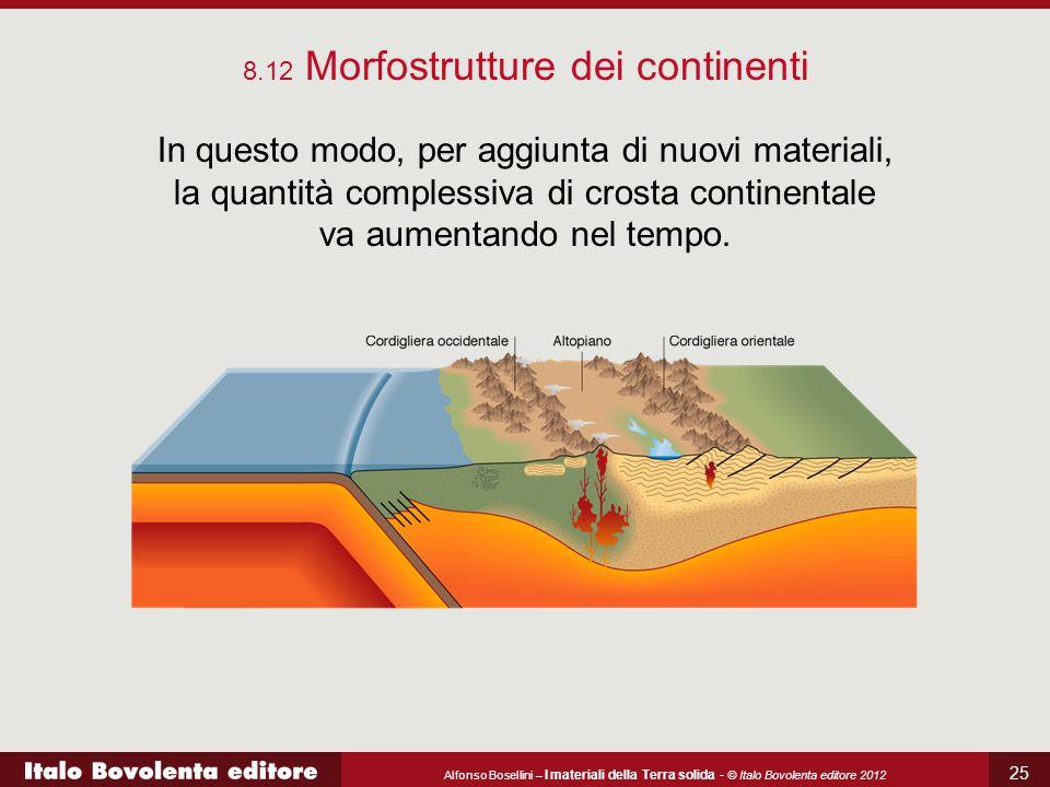 Alfonso Bosellini – I materiali della Terra solida - © Italo Bovolenta editore 2012 25 In questo modo, per aggiunta di nuovi materiali, la quantità co