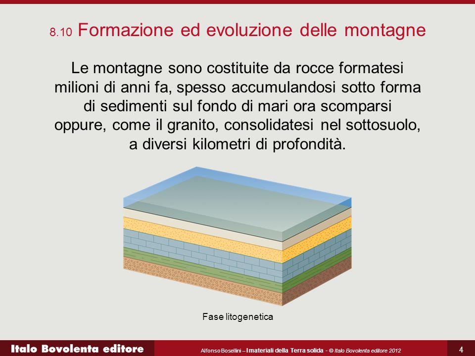 Alfonso Bosellini – I materiali della Terra solida - © Italo Bovolenta editore 2012 4 Le montagne sono costituite da rocce formatesi milioni di anni f