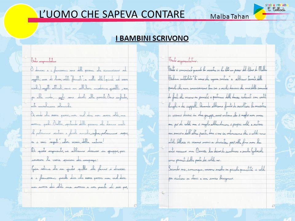 L'UOMO CHE SAPEVA CONTARE Malba Tahan I BAMBINI SCRIVONO