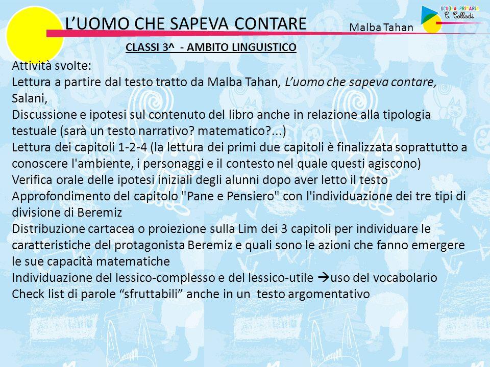 L'UOMO CHE SAPEVA CONTARE Malba Tahan