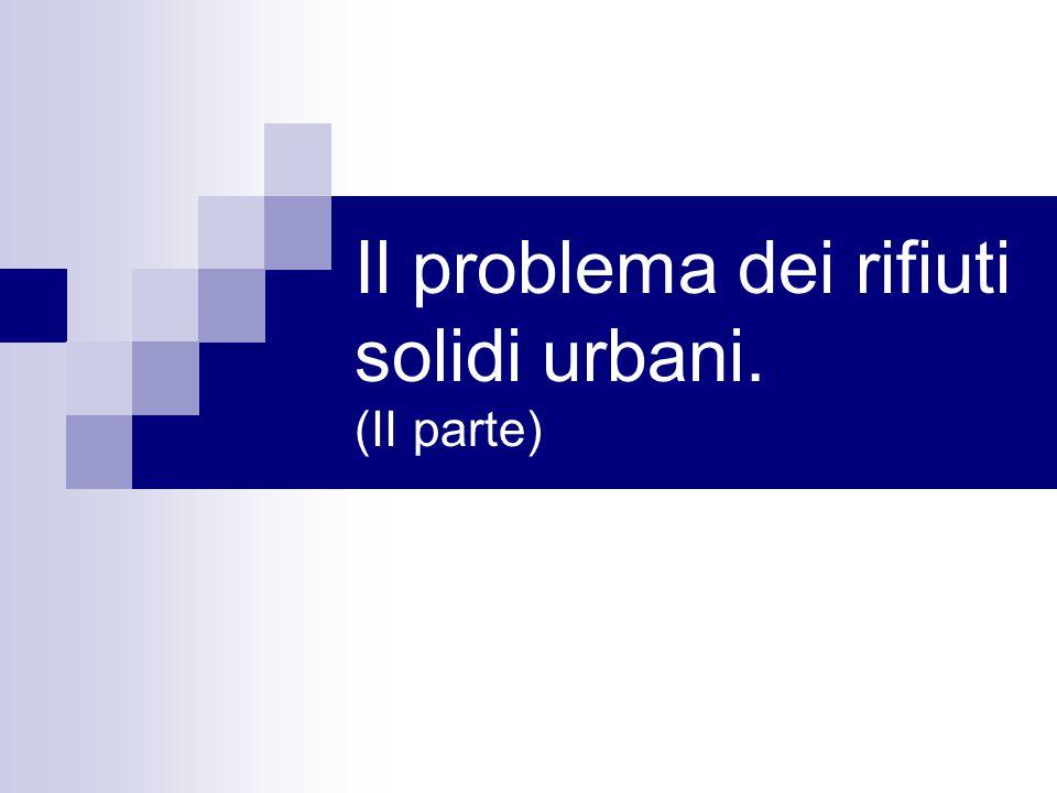 Il problema dei rifiuti solidi urbani. (II parte)