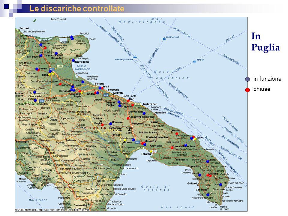 Le discariche controllate In Puglia in funzione chiuse