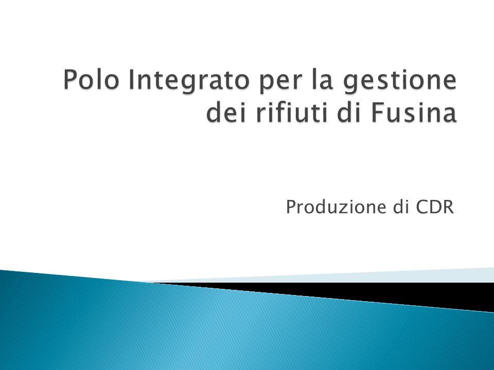 Produzione di CDR