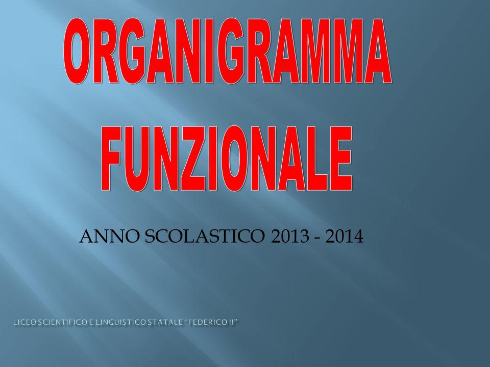ANNO SCOLASTICO 2013 - 2014