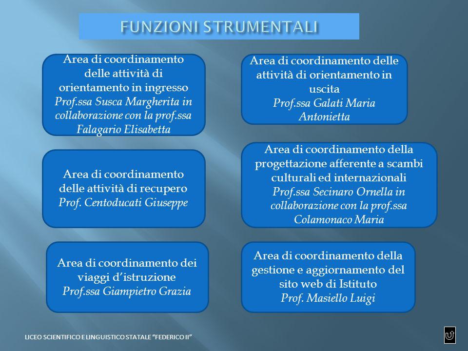 Area di coordinamento della gestione e aggiornamento del sito web di Istituto Prof.