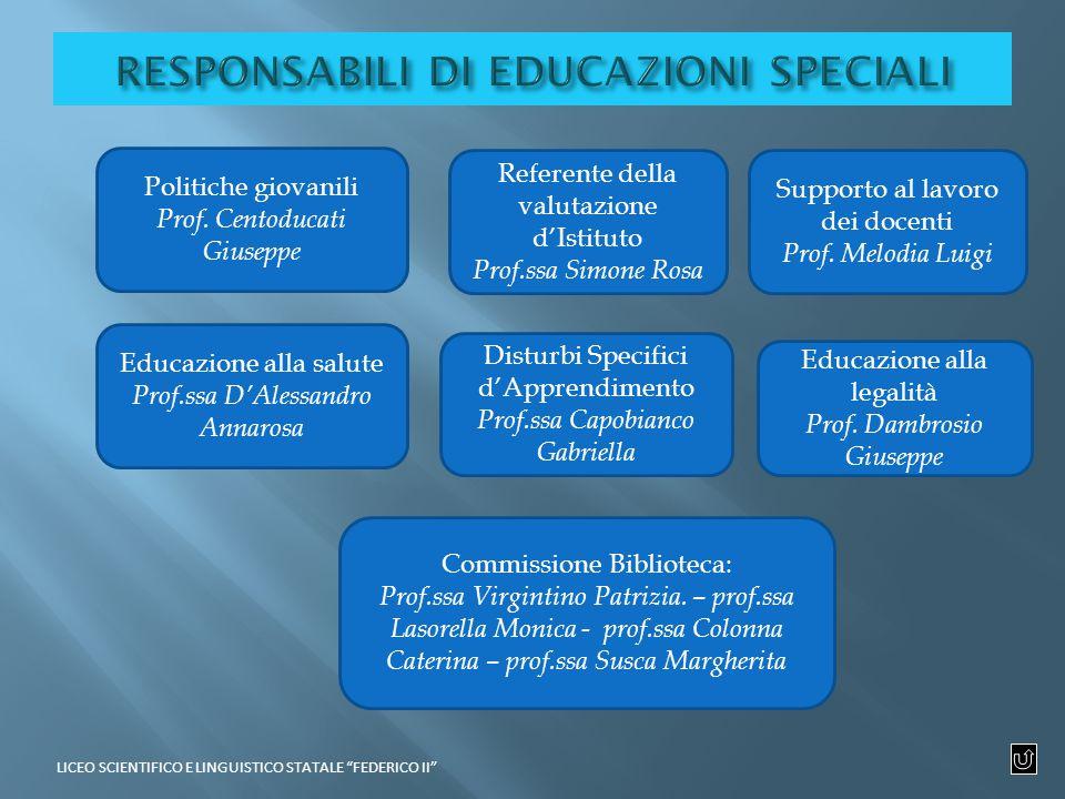 Politiche giovanili Prof.