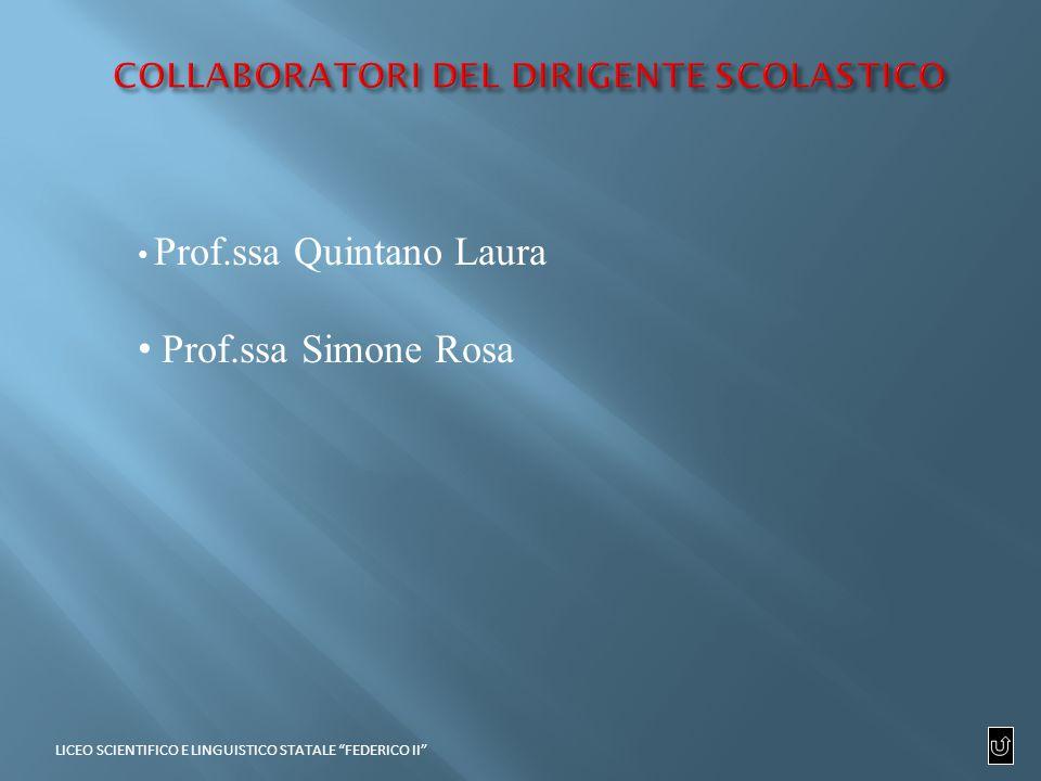 Prof.ssa Quintano Laura Prof.ssa Simone Rosa