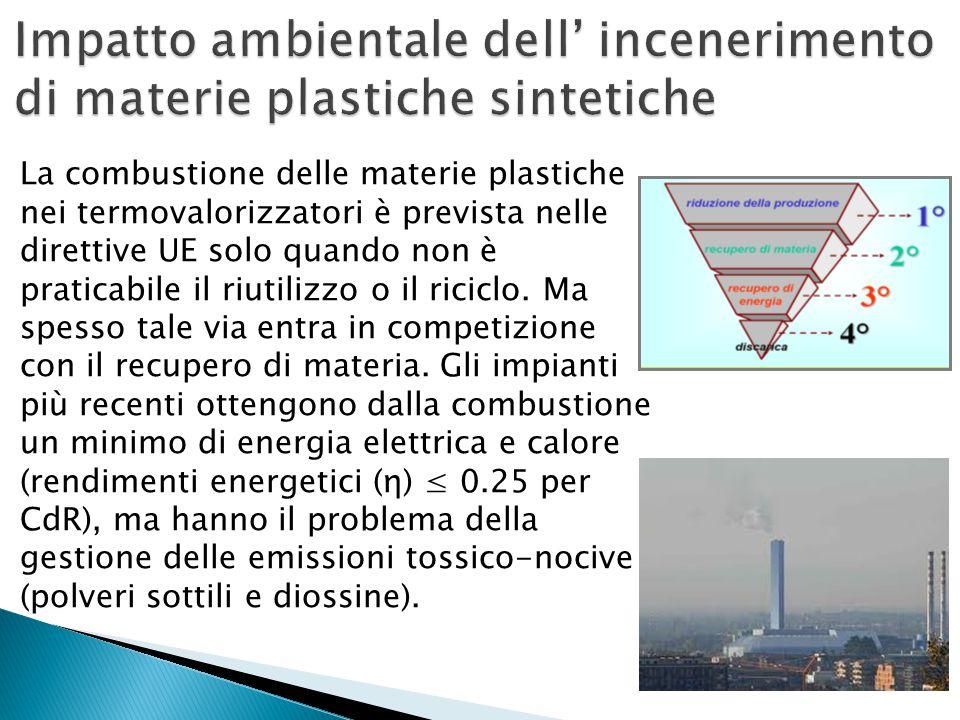 La combustione delle materie plastiche nei termovalorizzatori è prevista nelle direttive UE solo quando non è praticabile il riutilizzo o il riciclo.