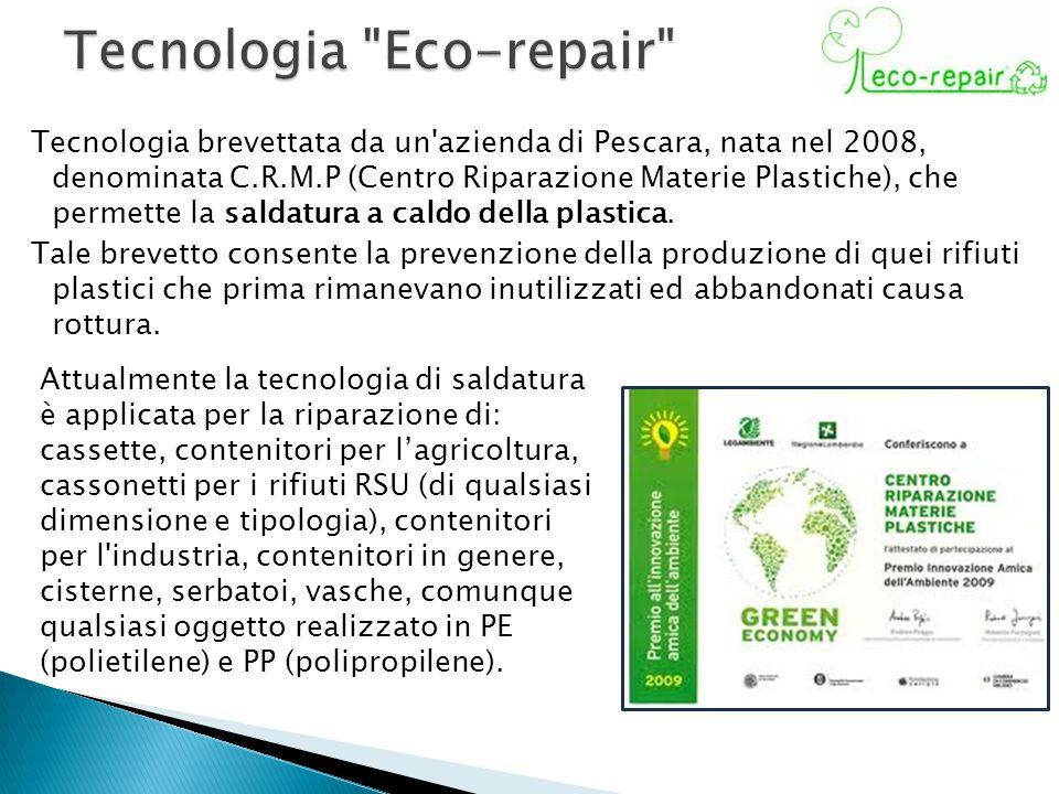 Tecnologia brevettata da un'azienda di Pescara, nata nel 2008, denominata C.R.M.P (Centro Riparazione Materie Plastiche), che permette la saldatura a