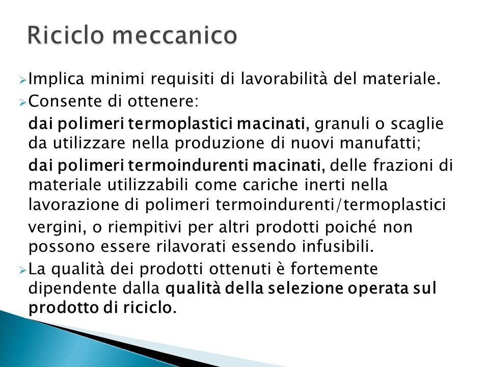  Implica minimi requisiti di lavorabilità del materiale.
